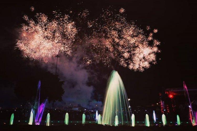 Dancing Fountain Aloon-Aloon Kota Magelang